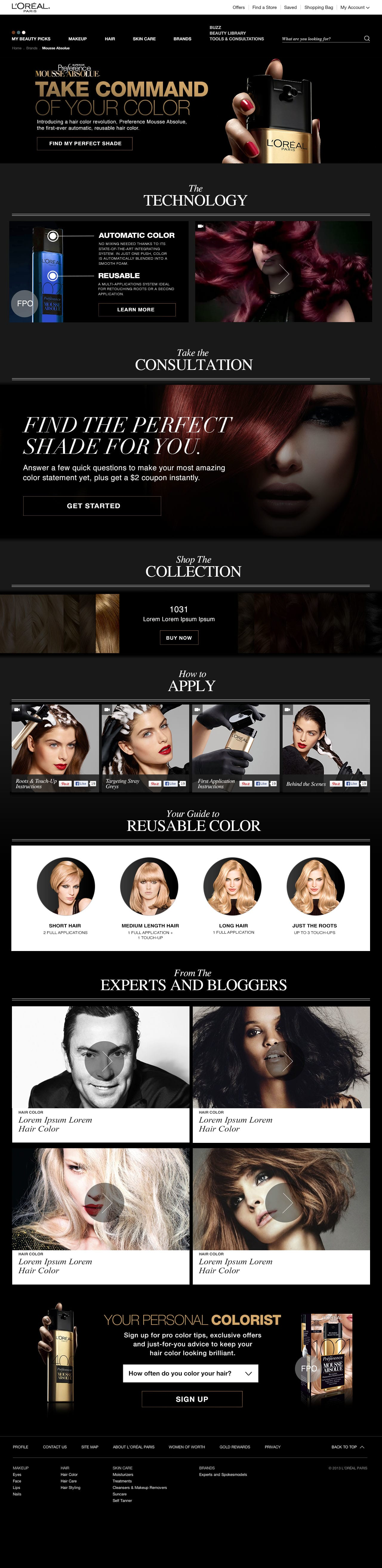 L'Oreal Mousse Absolue Website
