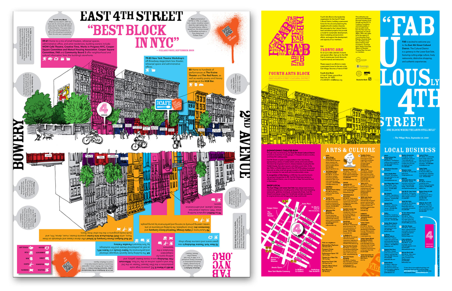 East Fourth Street Cultural District branding and collateral