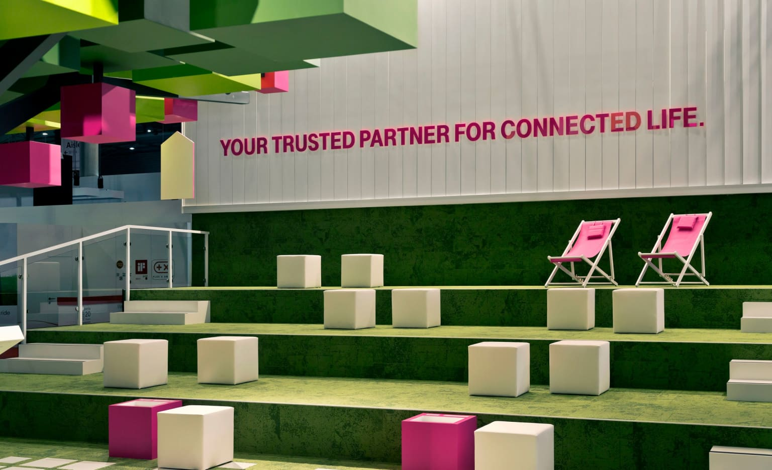 Telekom Booth at the Mobile World Congress