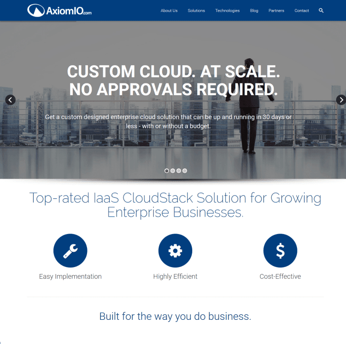 AxiomIO - B2B Technology for the Cloud