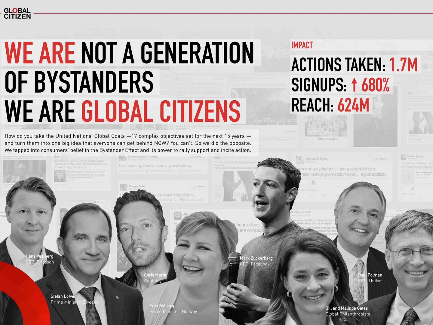 GLOBAL CITIZEN / THE BYSTANDER EFFECT