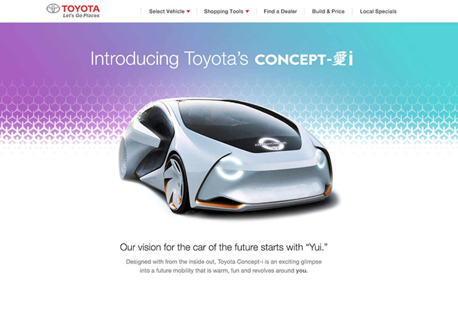 Global launch of Toyota Concept-i