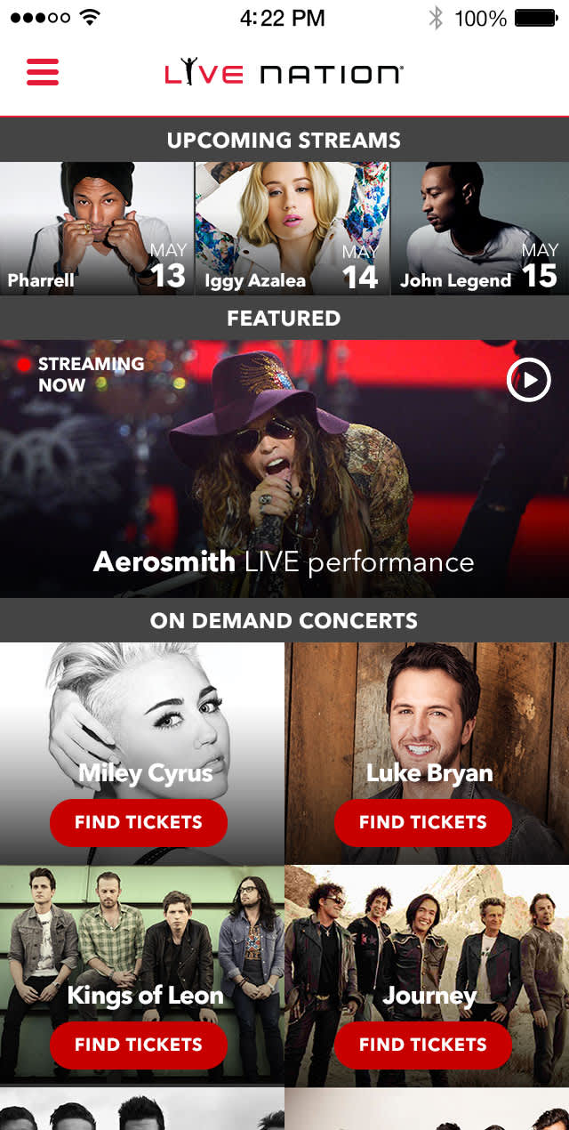 Live Nation Streaming App