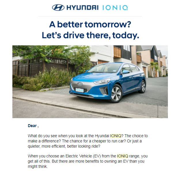 Hyundai IONIQ Electric Vehicle Launch