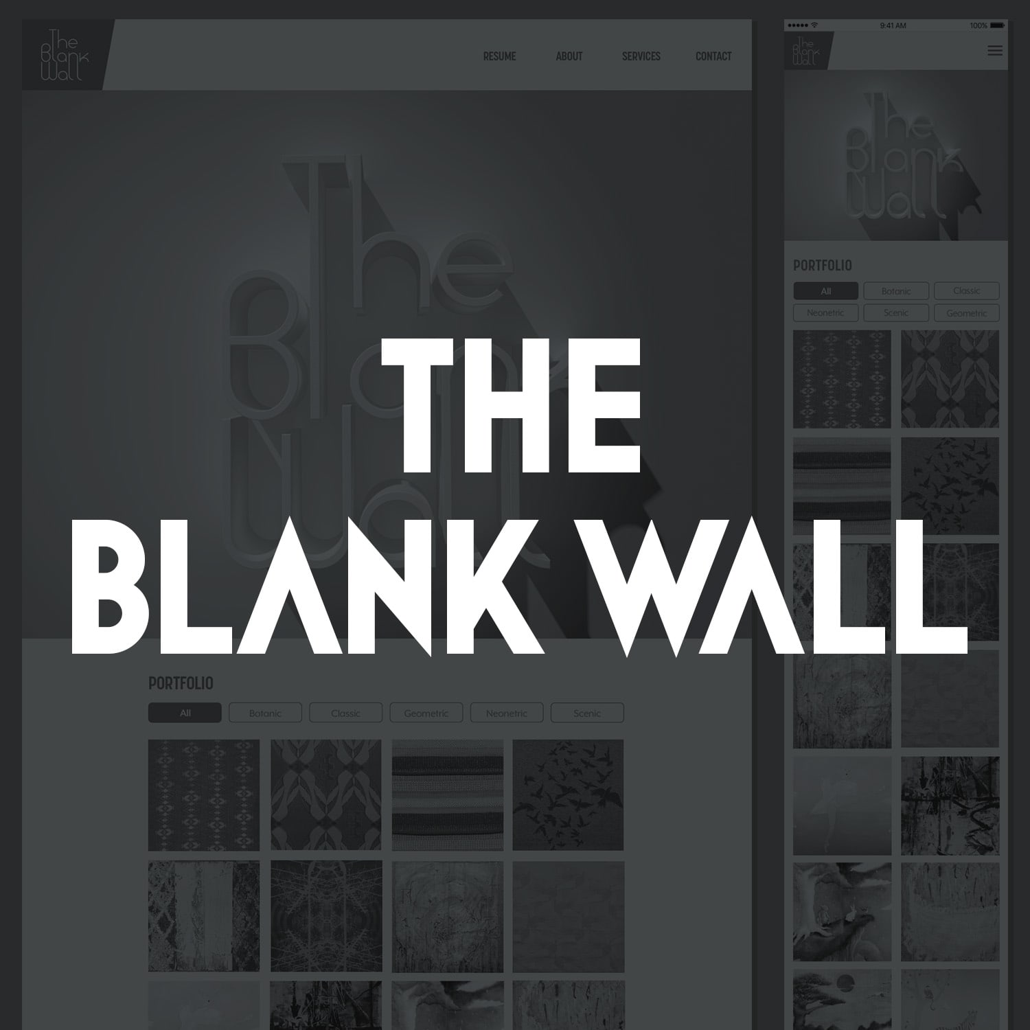 The Blank Wall Website