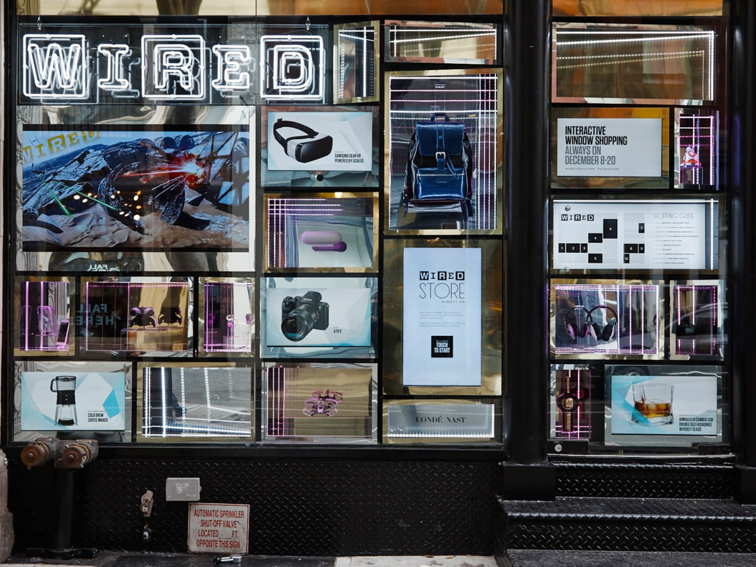 WIRED INTERACTIVE HOLIDAY WINDOW