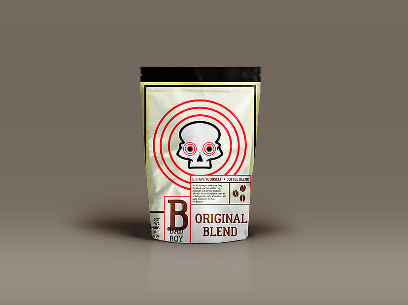 Bad Boy Coffee Blends Packaging Design