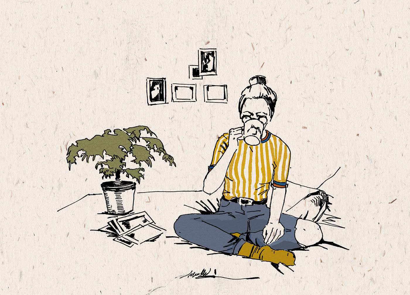 Hipster Article Illustration