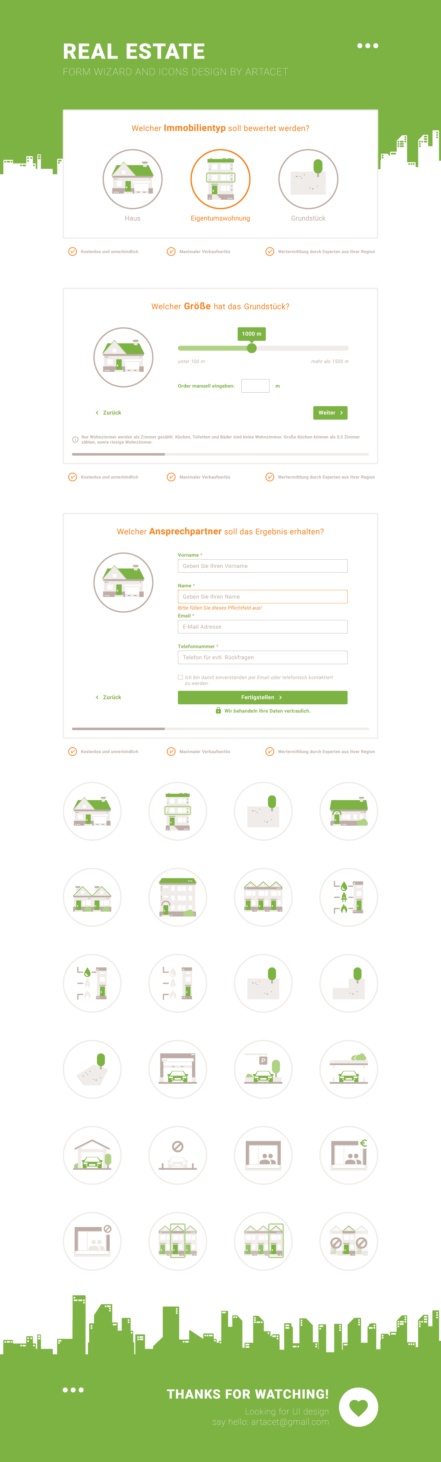 Design for a web based form wizard