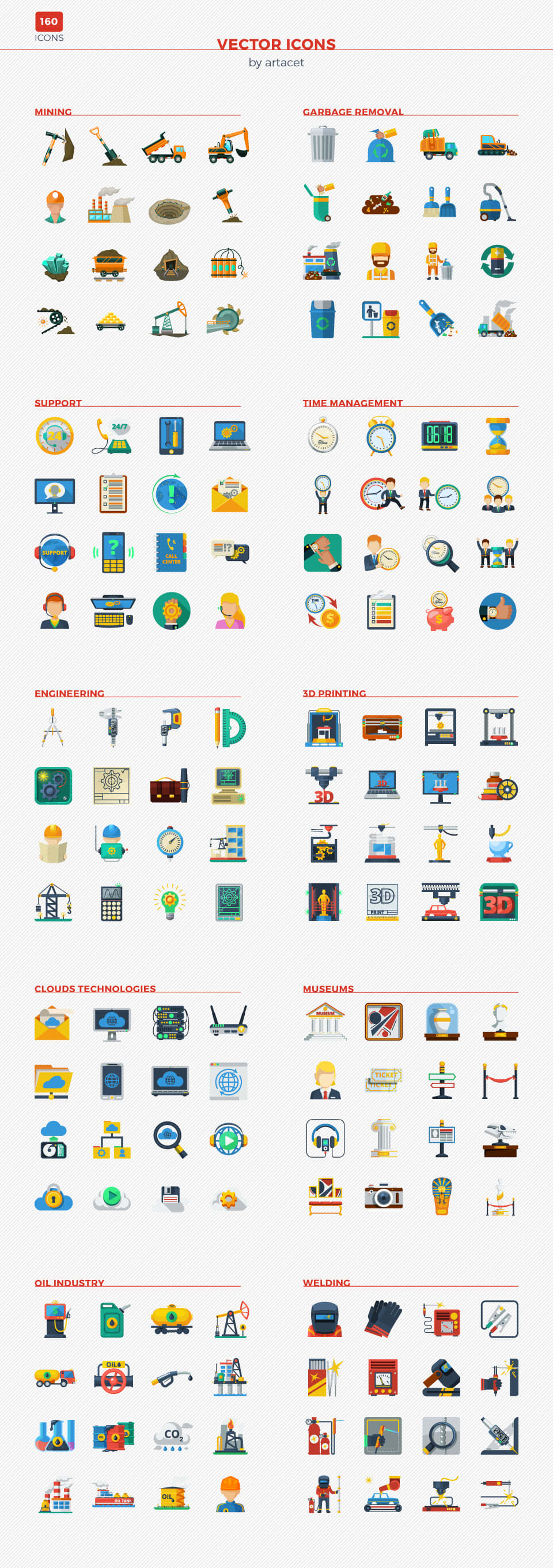 Vector Icons for a web and app design