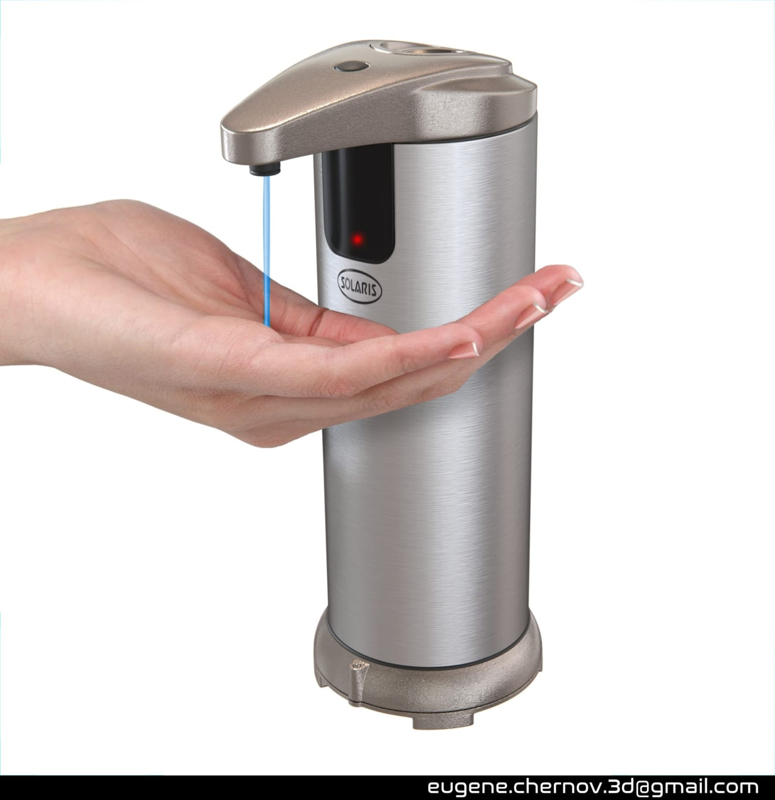 Modeling and visualization of a soap dispenser
