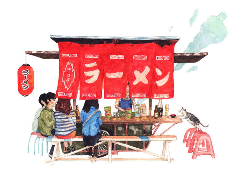 21 Days in Japan: An Illustrative Study of Japanese Cuisine