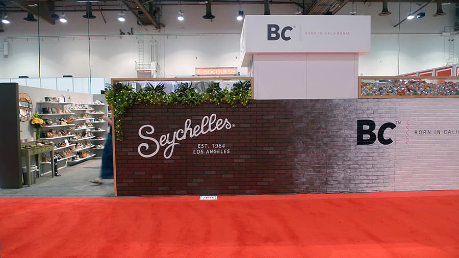 Seychelles and BC Footwear Tradeshow Booth