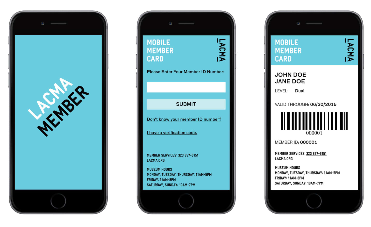 LACMA Mobile Membership Card
