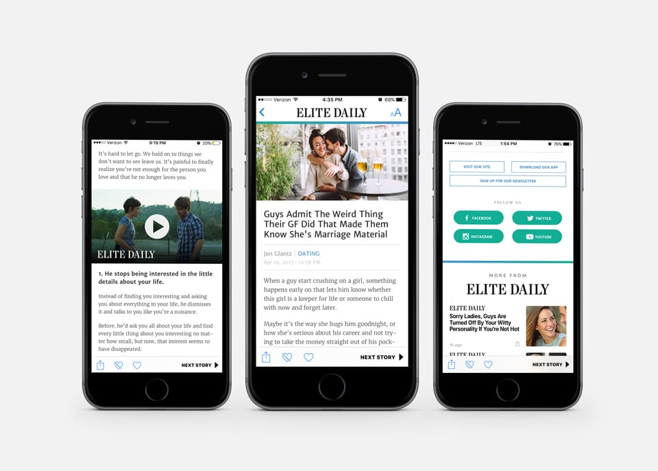 Elite Daily Apple News Article Design