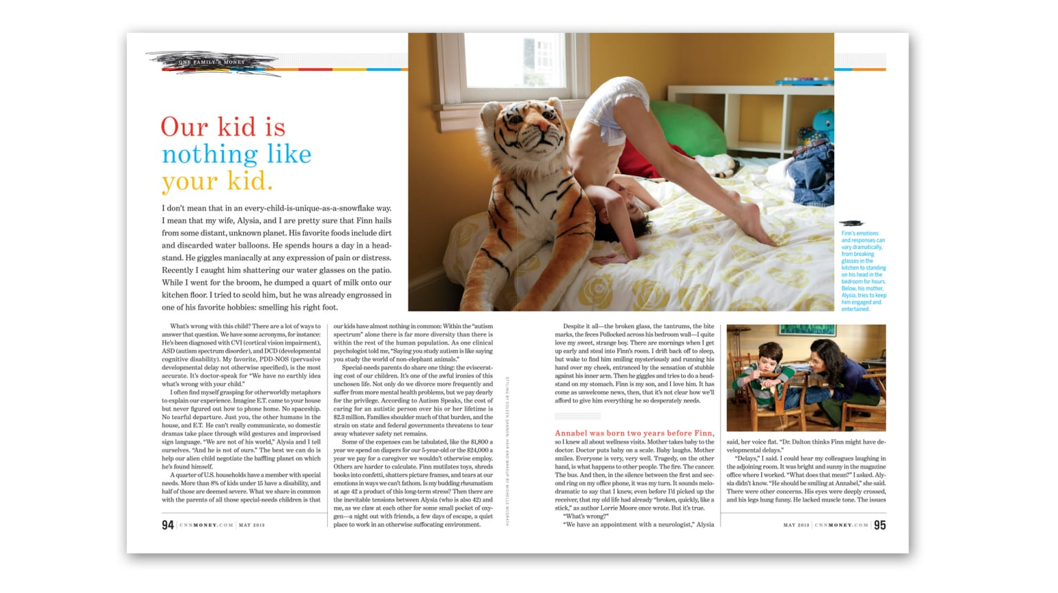 Paying For Finn: Money magazine layout
