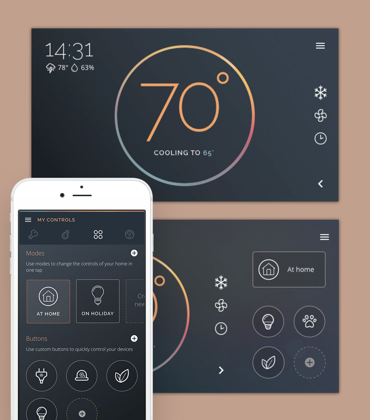Habi - Smart Thermostat Home System + Companion App