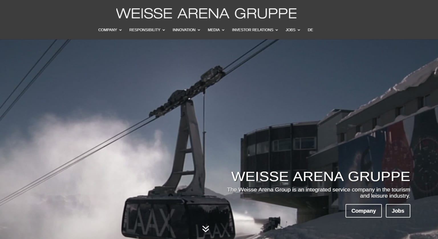 Weisse Arena Gruppe - Brand Identity Guidelines for Website