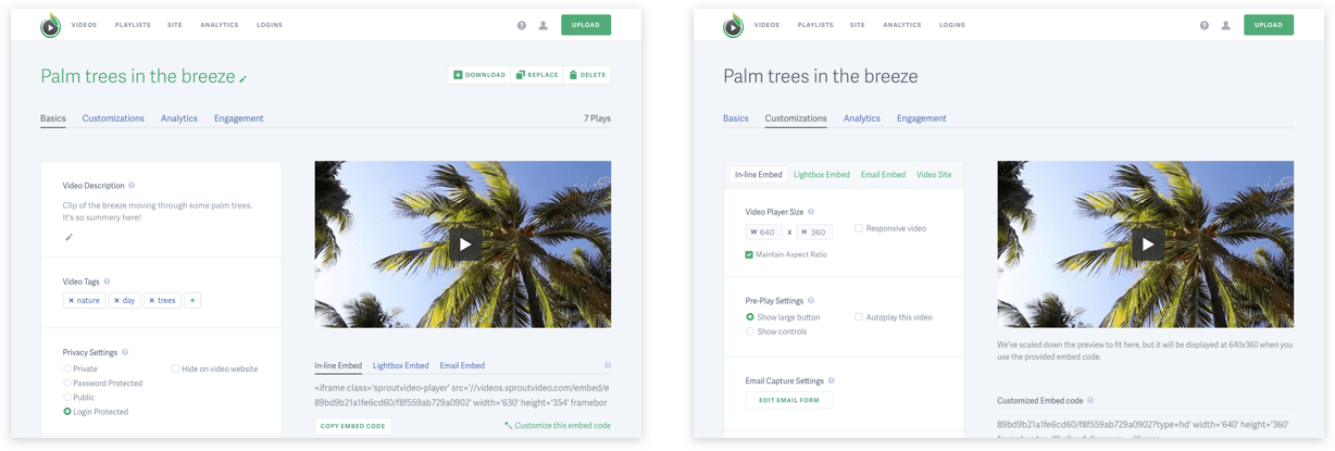 SproutVideo Product Design
