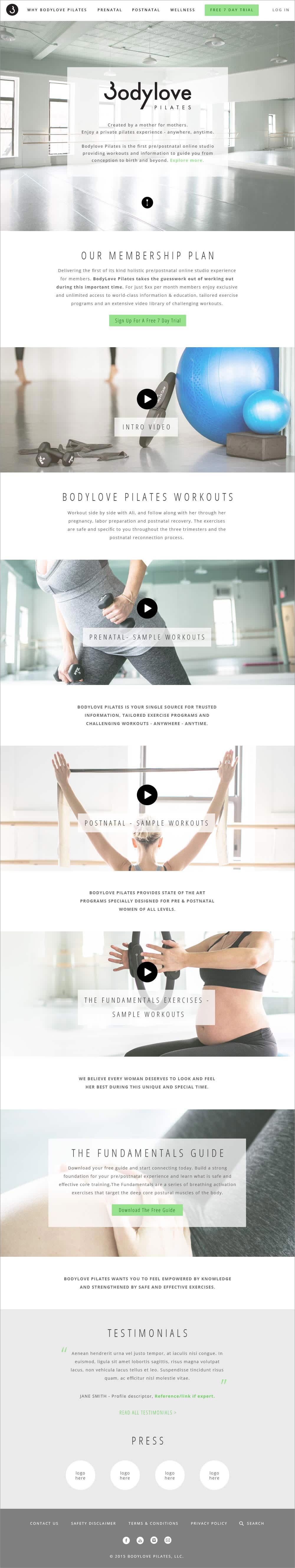 Brand New Website for Pilates Business