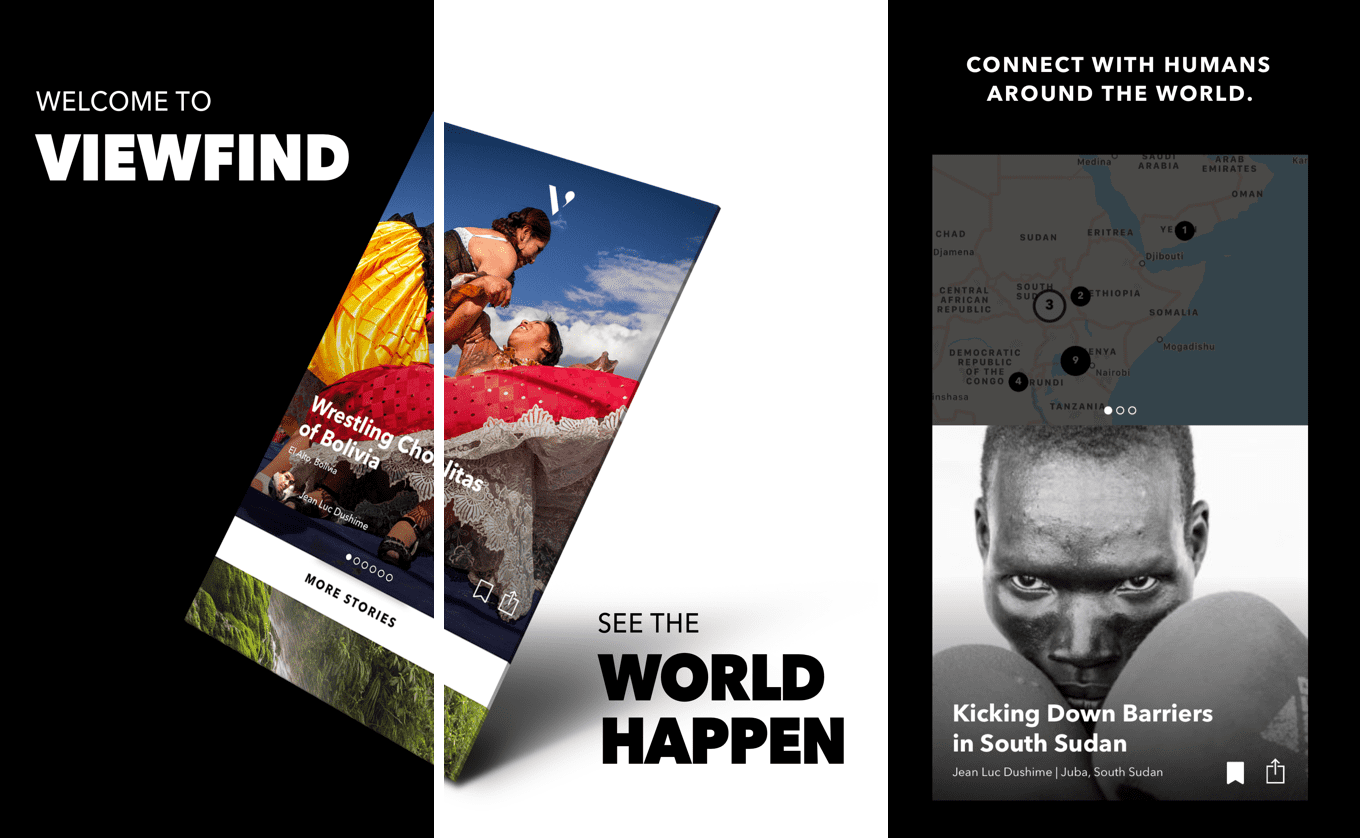 iOS Design for ViewFind | A visual storytelling tool for journalists