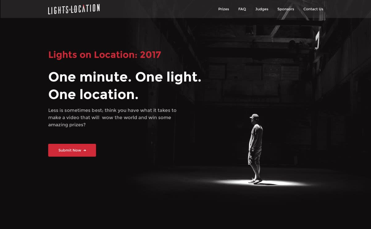 Lights on Location Video Contest Page
