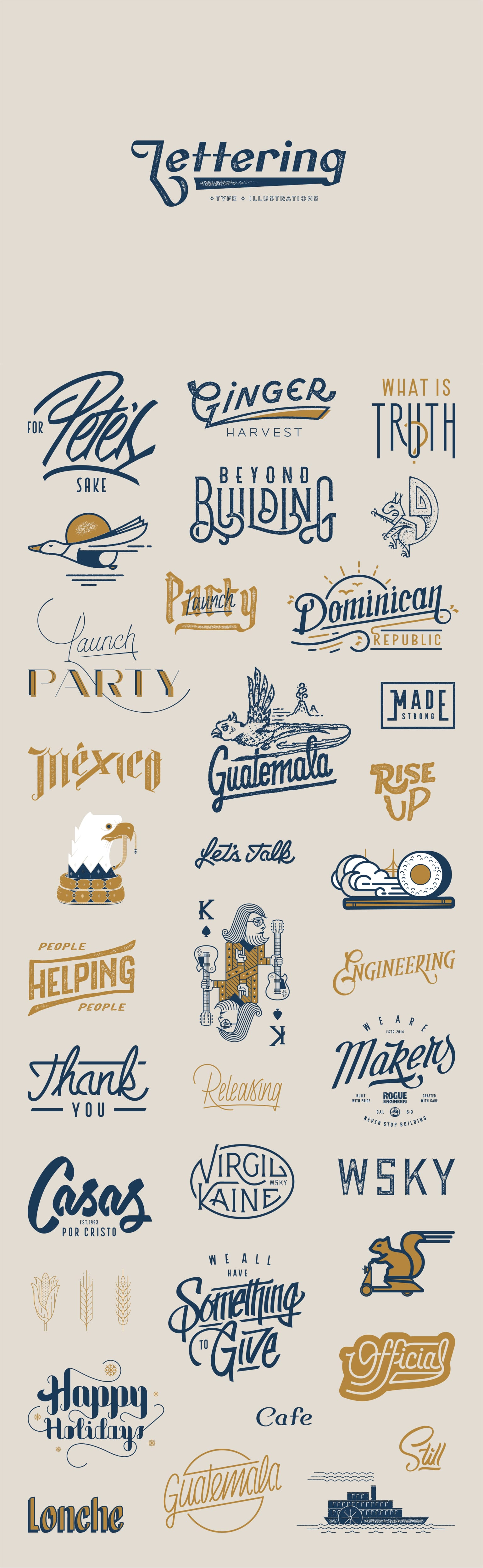 Lettering + Type + Illustrations