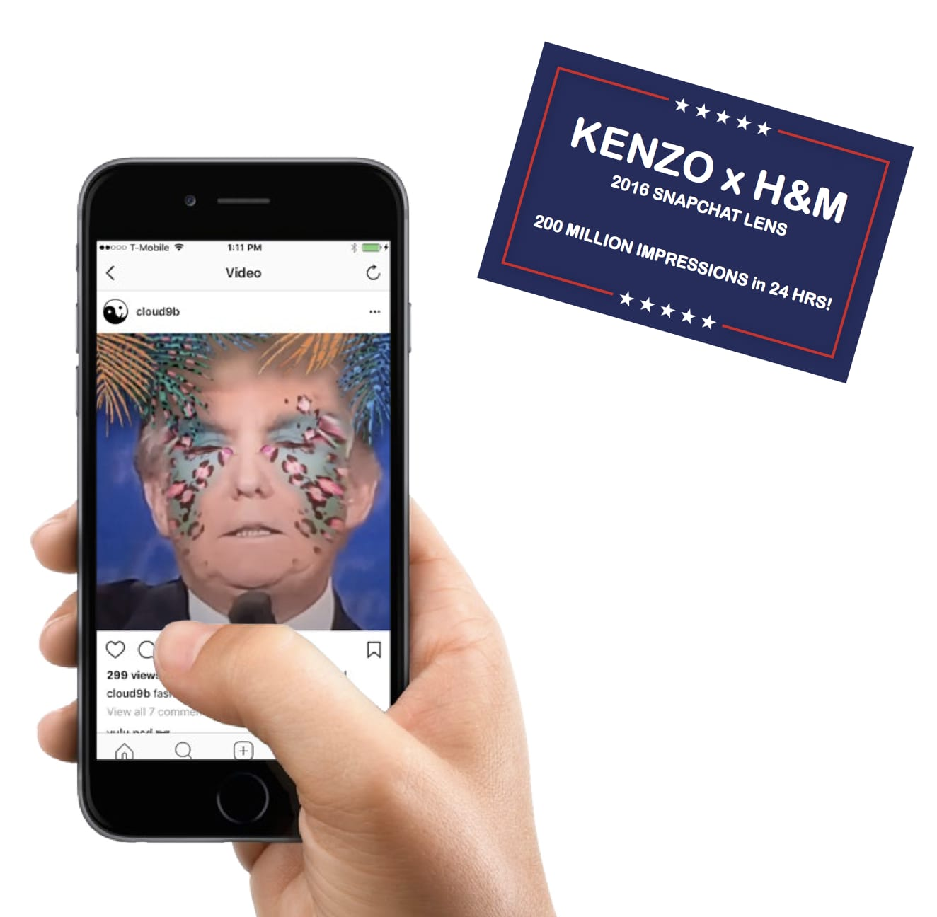 Social Campaign for H&M x KENZO
