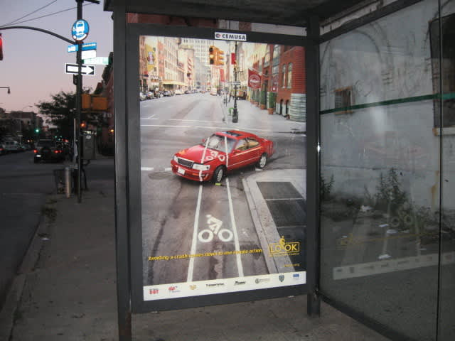 NYC Bicycle Safety LOOK campaign