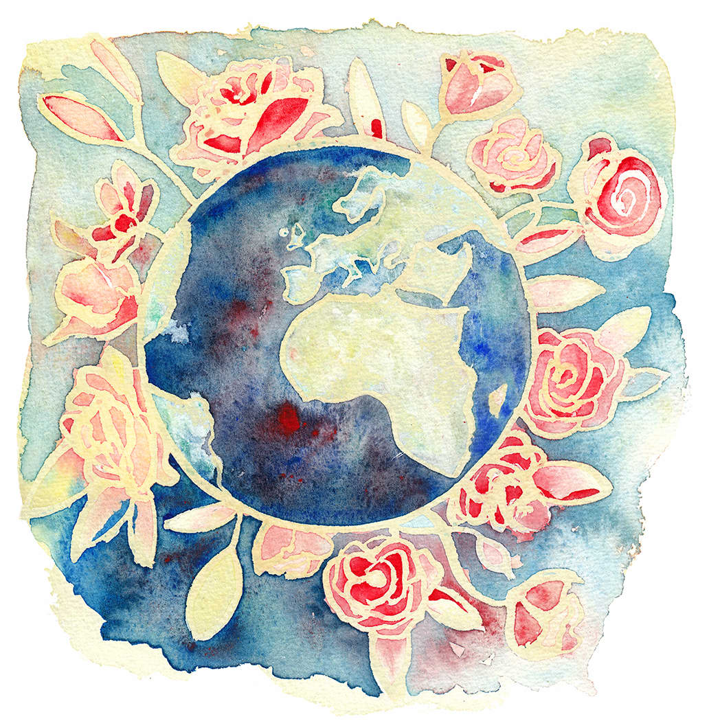Blooming world