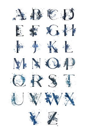 Watercolor Letter Forms