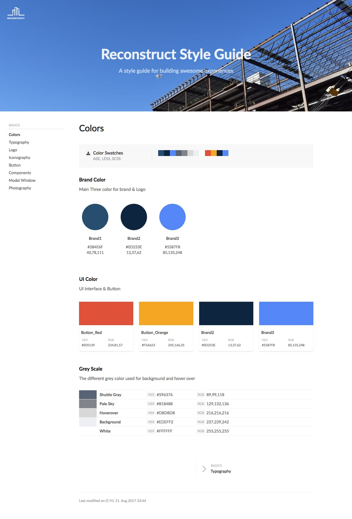 Reconstruct Style Guide