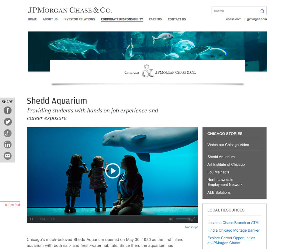 JP Morgan Chase & Co. - Corporate Responsibility Local Market Campaign