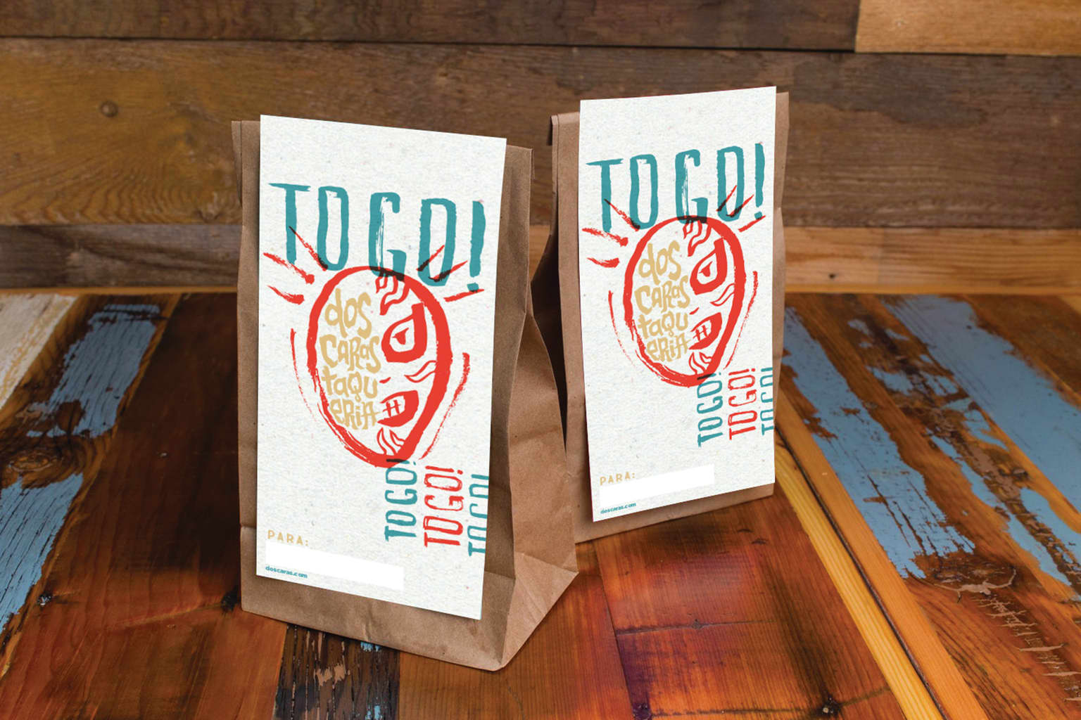 Dos Caras Taqueria: Brand Identity, Hand Lettering, Illustration