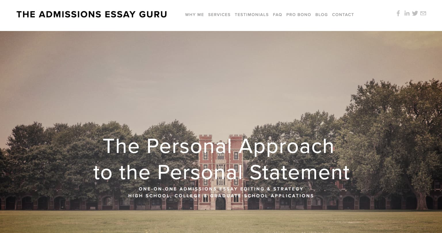"Founded & Run ""Admissions Essay Guru"" Business"
