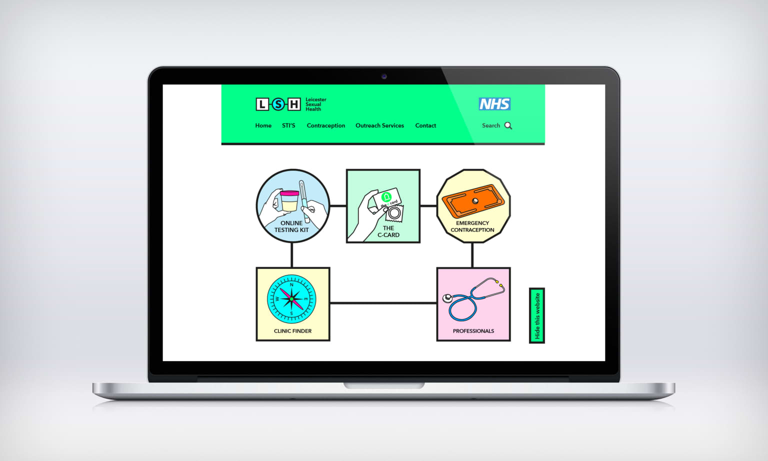 NHS Leicester Sexual Health Re-Brand and Web-design