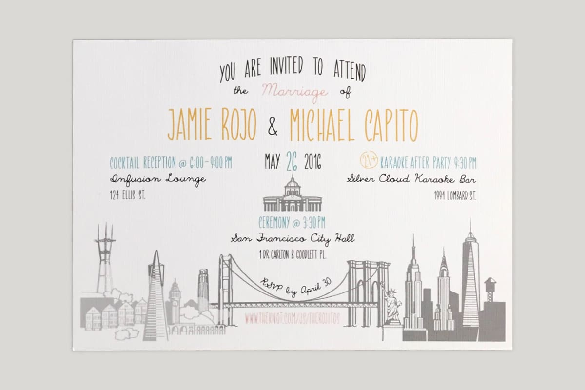 Rojitos Wedding Invitation