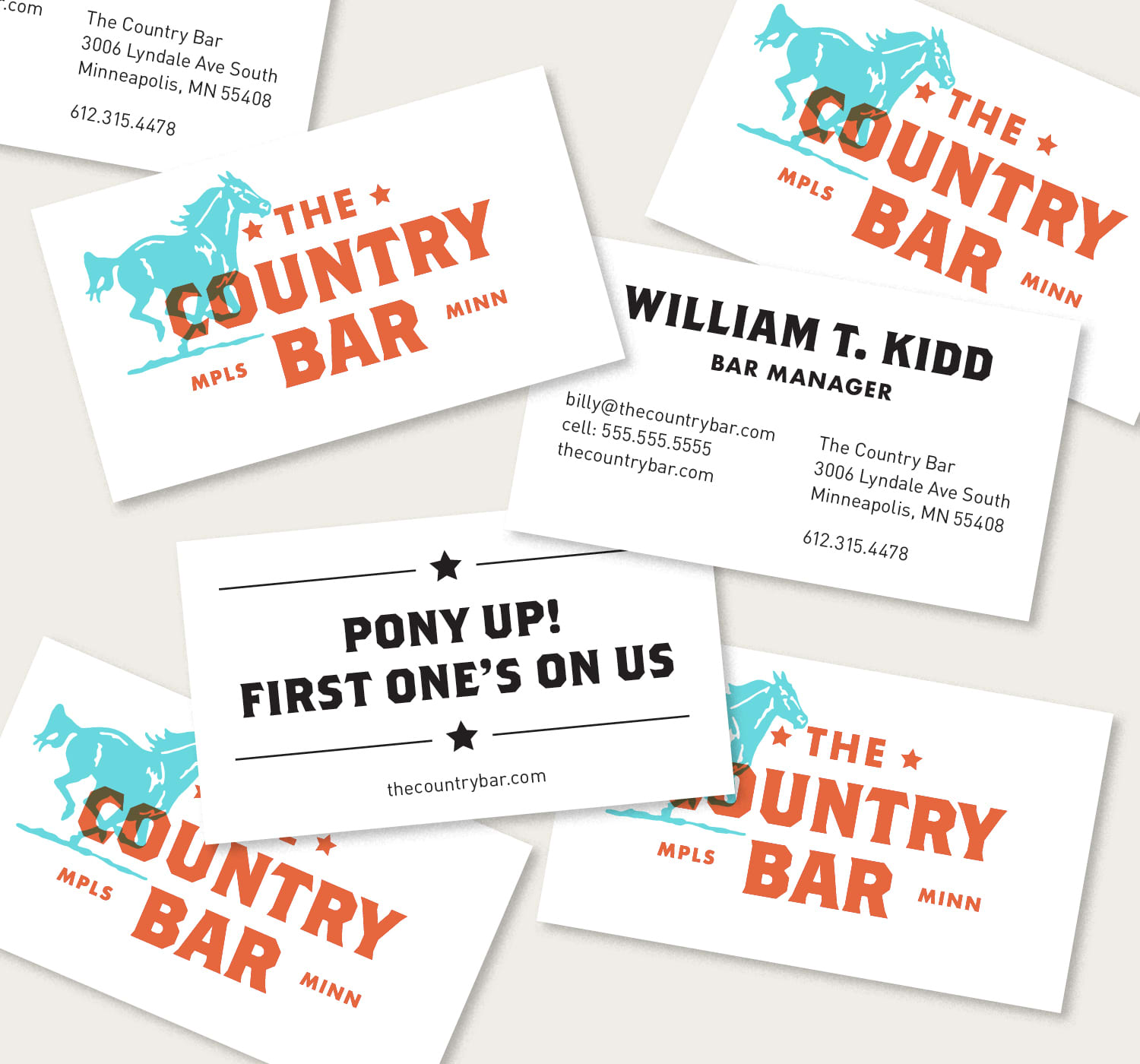 The Country Bar Branding