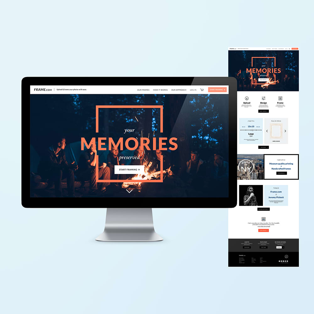 Frame.com Website Design