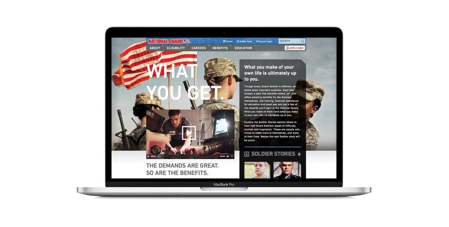 National Guard Web Design and Advertising