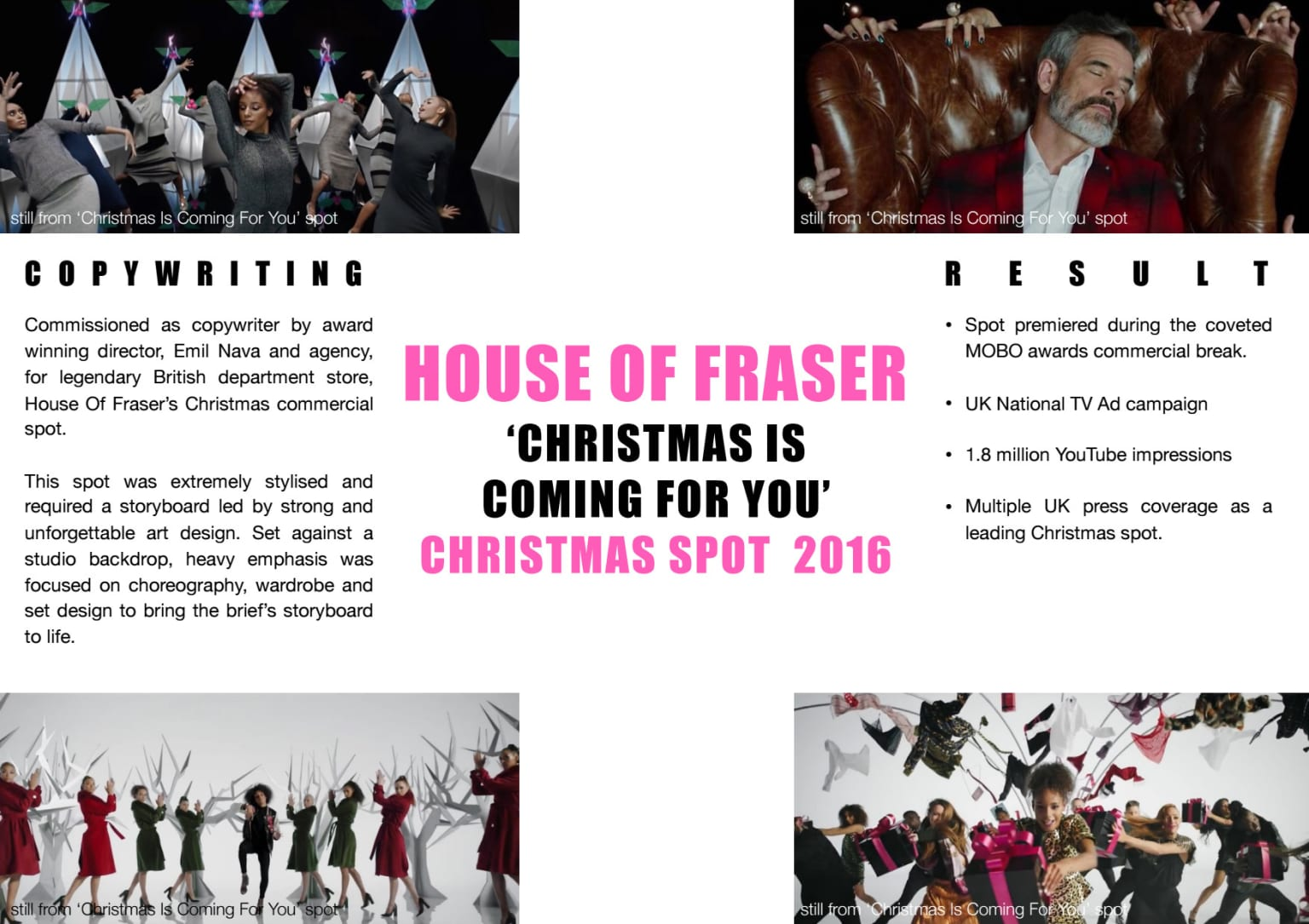House Of Fraser Commercial Treatment