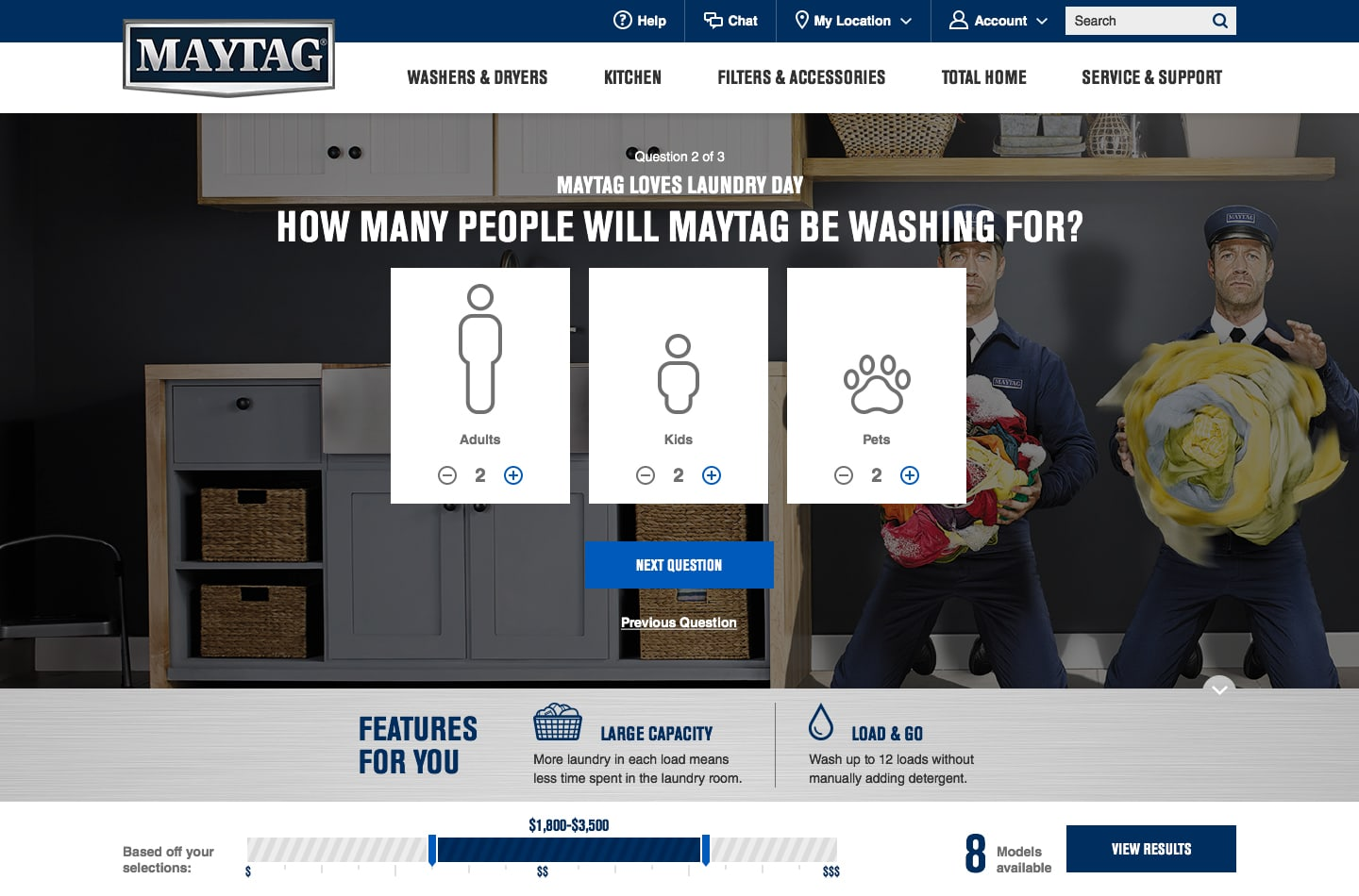 Maytag eCommerce site