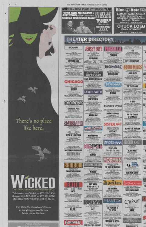 Wicked on Broadway — Print