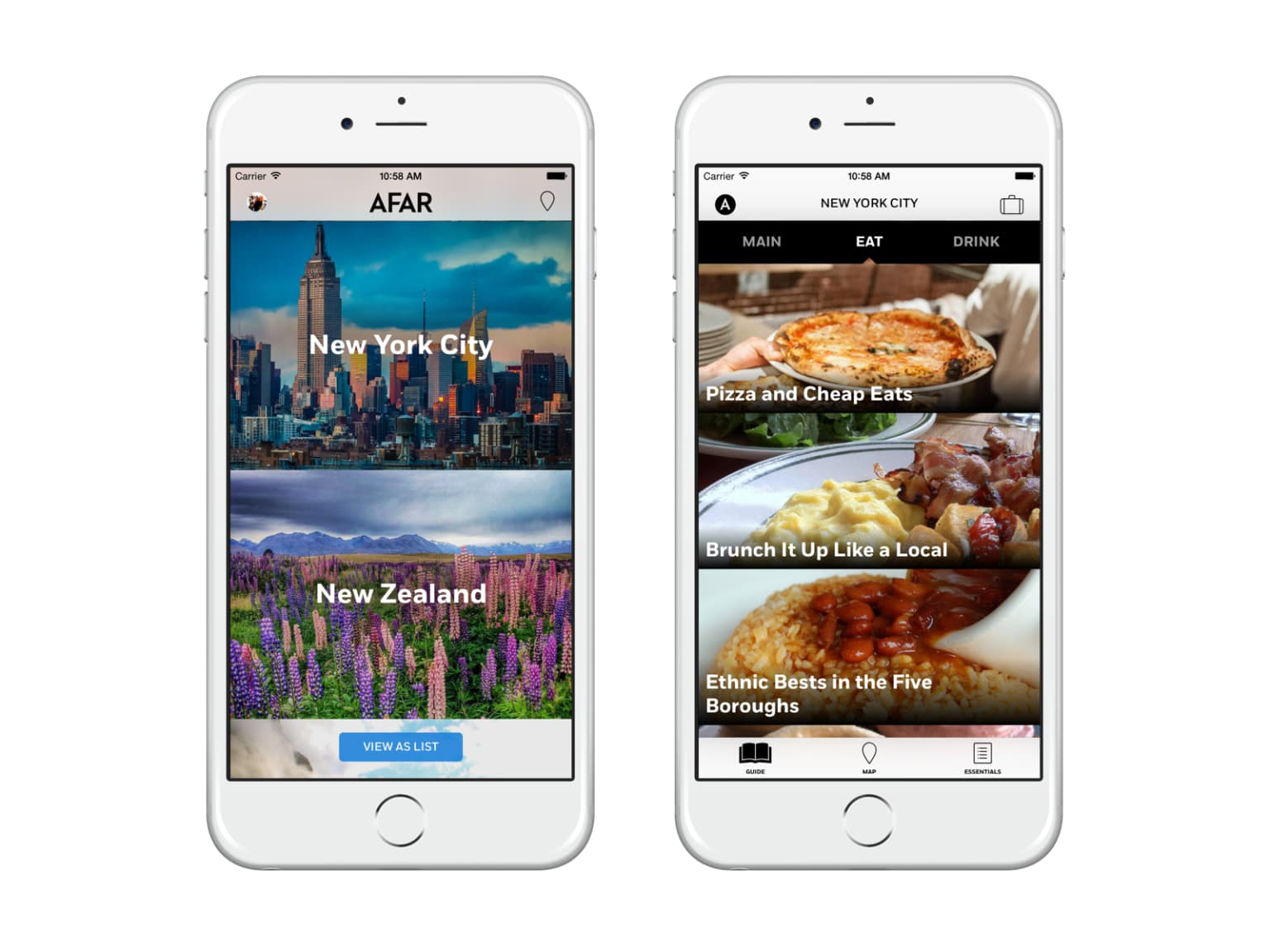 AFAR Travel iOS App