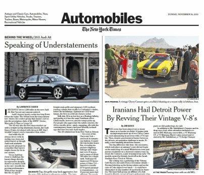 The New York Times Autos Section