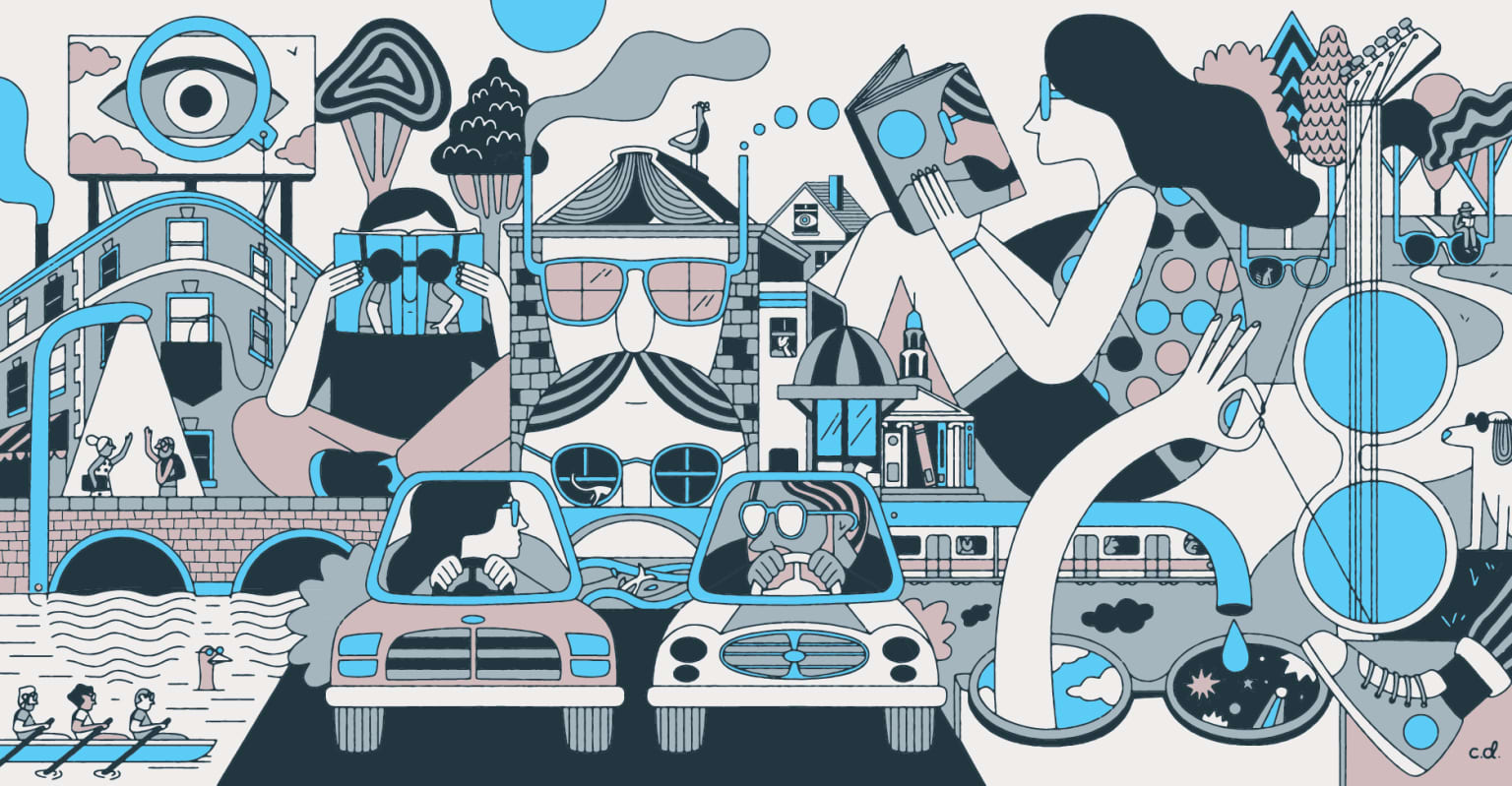 Warby Parker mural