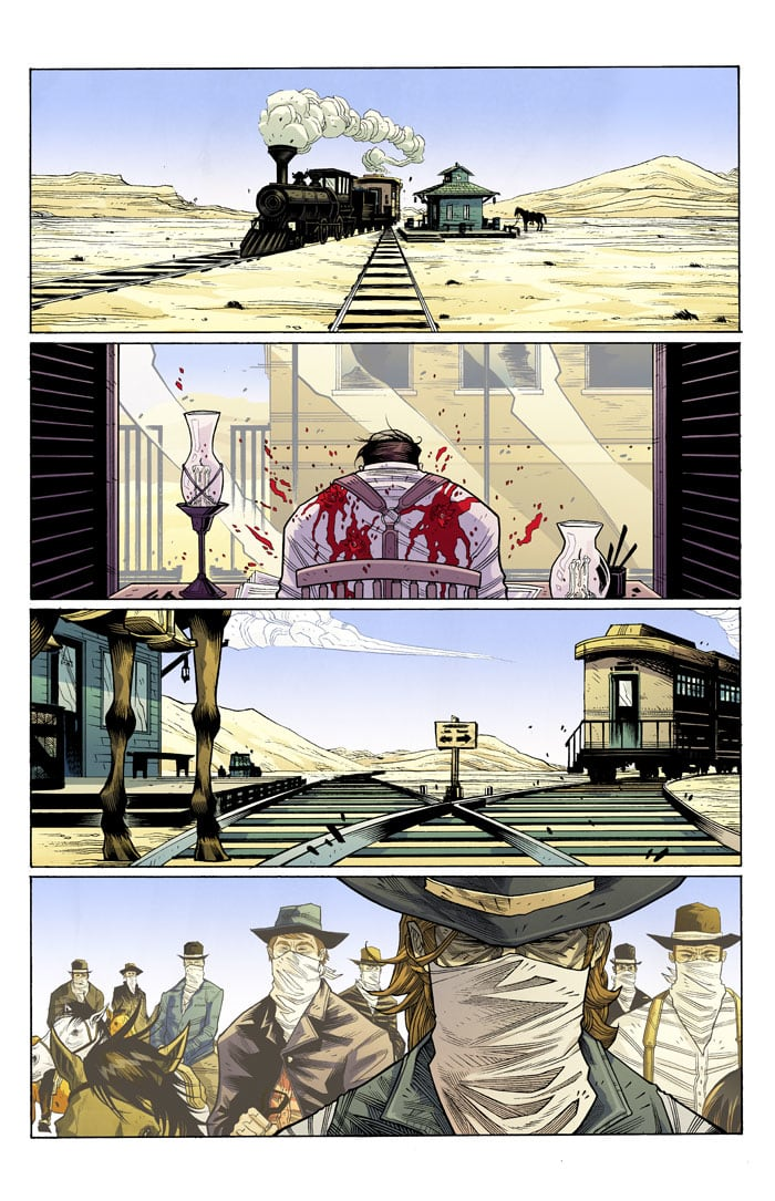 """""""Eight at the Rails"""" - Outlaw Territory Vol 3 (Image Comics)"""