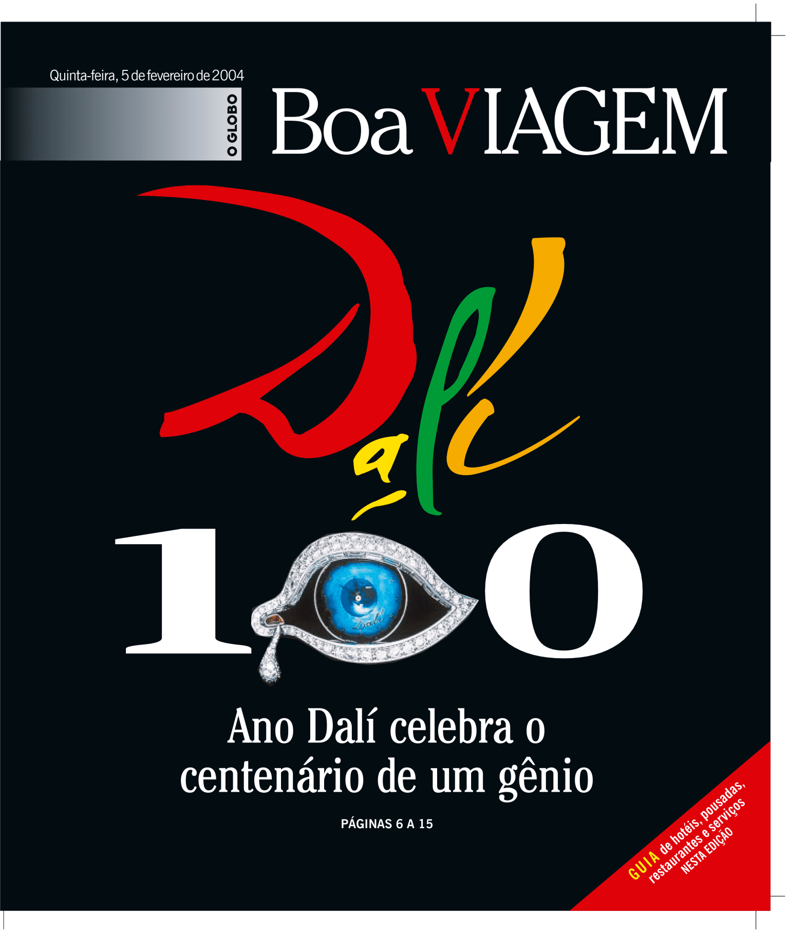 O Globo - Cover: Tourism Section - 100 years of Dali