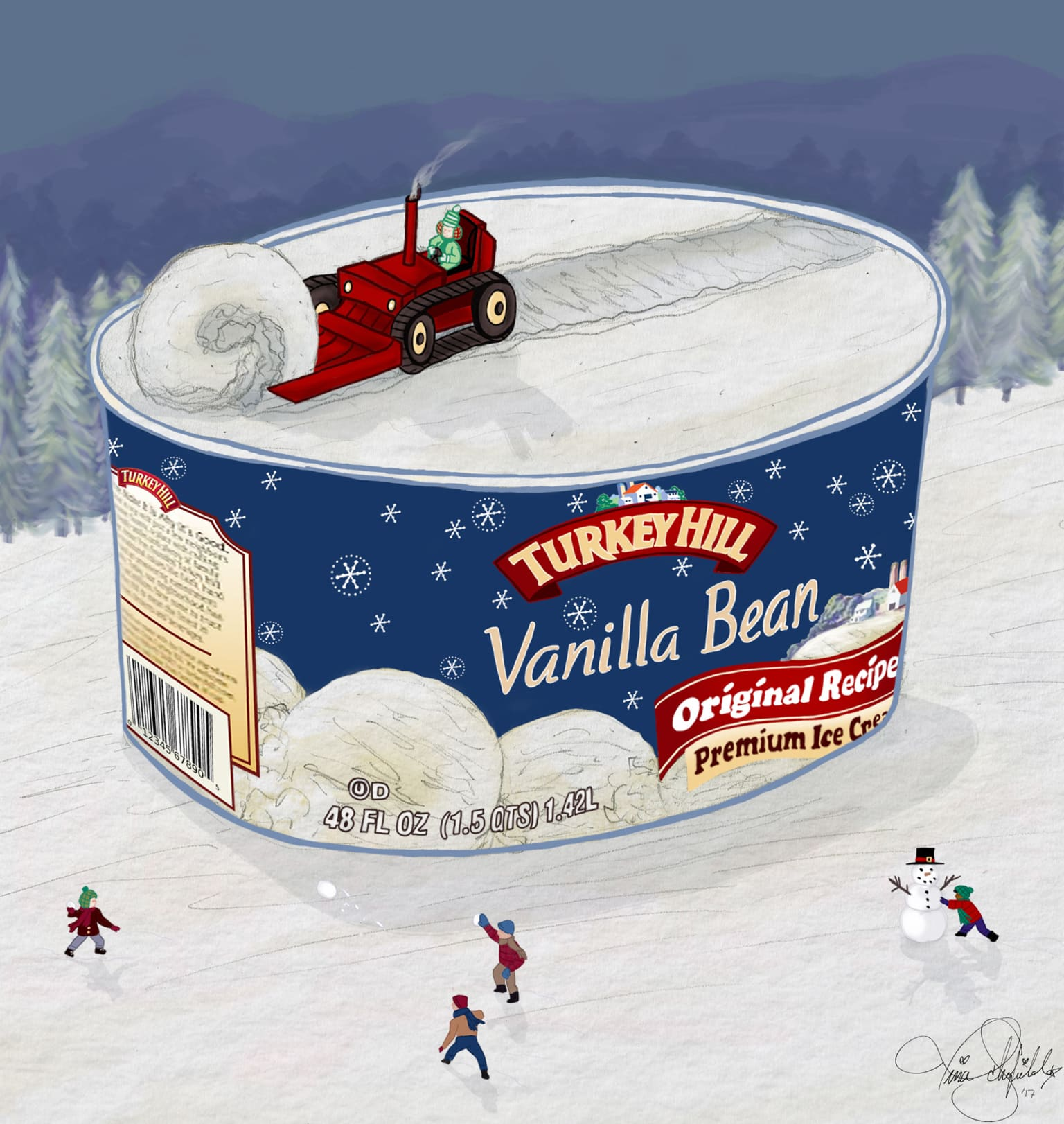 Turkey Hill Dairy Seasonal Promotional Ad and Packaging Concept Pitch