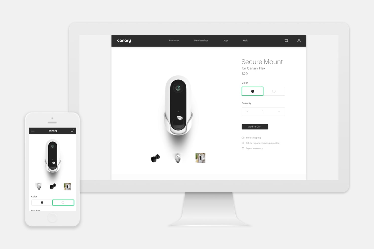 Canary - Responsive Commerce Website